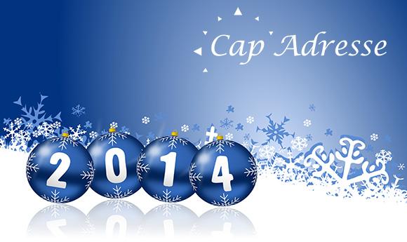 Cap Adresse vous présente ses meilleurs vœux pour cette nouvelle année